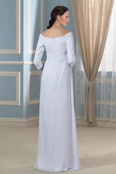 Vestido de novia Elegante Cola Barriba Playa Escote con Hombros caídos
