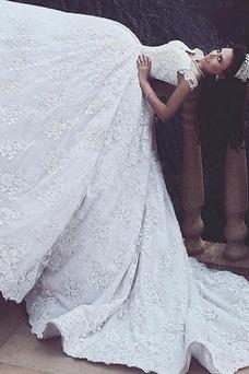Vestido de novia Encaje Sala Corte-A Clasicos Cremallera Satén