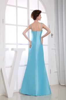 Vestido de noche Romántico Sin mangas Escote de Tirantes Espaguetis
