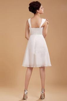 Vestido de novia Gasa Imperio Cintura Sin mangas Plisado Corte-A Fuera de casa