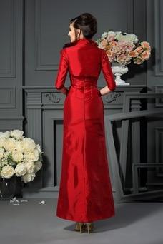 Vestido de madrina Con Chaqueta Drapeado Sin tirantes tafetán primavera