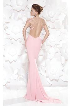 Vestido de noche Sin cintura Moderno Falta Espalda medio descubierto