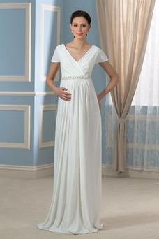 Vestido de novia Embarazadas Cola Barriba Imperio Cintura Espalda Descubierta