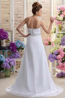 Vestido de novia Elegante Cinturón de cuentas Escote Corazón Fuera de casa