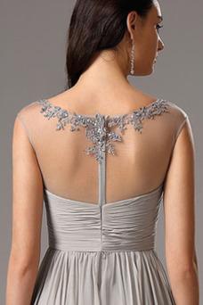 Vestido de noche Corte-A Elegante Hasta el Tobillo Sin mangas Transparente
