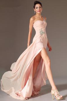 Vestido de noche Corte-A Apertura Frontal Elegante Sin mangas Frontal Dividida