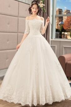 Vestido de novia Corte-A Cordón primavera Camiseta Sala Encaje
