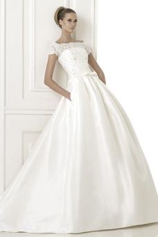 Vestido de novia Barco Cintura Baja Cremallera largo Clasicos Invierno