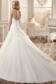Vestido de novia Corte princesa Cremallera Sin mangas Apliques Invierno