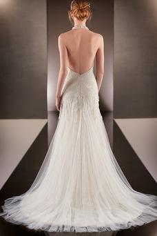 Vestido de novia Encaje Espectaculares primavera Cremallera Corte-A