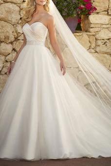 Vestido de novia Escote Corazón Espalda Descubierta Corte princesa Sala