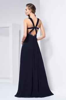 Vestido de noche Espalda Descubierta Gasa primavera Natural Elegante