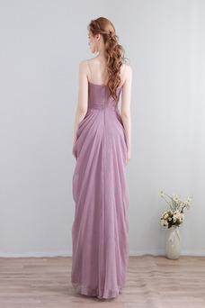 Vestido de dama de honor Hasta el Tobillo Verano Elegante Falta Imperio Gasa