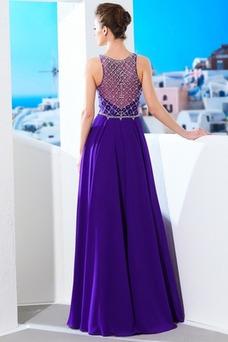 Vestido de fiesta Falta Gasa Natural Otoño largo Corte-A