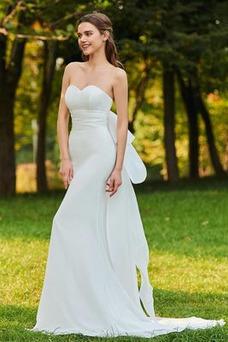 Vestido de novia Corte Sirena Natural Escote Corazón Pura espalda Organza