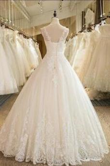 Vestido de novia Falta Iglesia Hasta el suelo Encaje Corte princesa