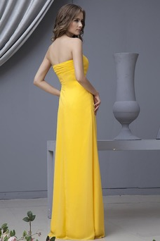 Vestido de dama de honor Sin mangas Imperio Verano Elegante Imperio Cintura