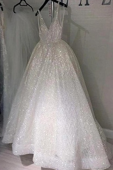 Vestido de novia Falta Sala Corte-A Natural tul Escote en V