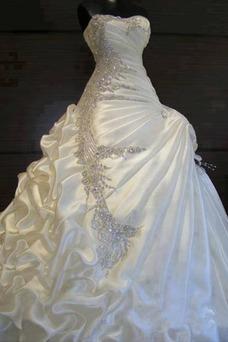 Vestido de novia Invierno Satén Capa de Corpiño Cristal Corte princesa