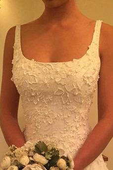 Vestido de novia primavera Espalda Descubierta Corte-A Triángulo Invertido