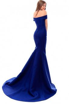 Vestido de noche Corte Sirena Cremallera Escote con Hombros caídos Formal