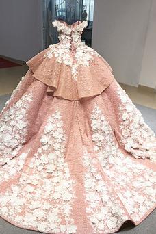 Vestido de quinceañeras primavera Rosetón Acentuado Espectaculares Corte-A