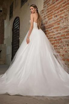 Vestido de novia Romántico Sala Natural Sin mangas Espalda Descubierta