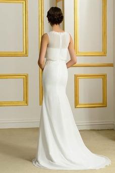 Vestido de novia Sencillo Dobladillos Encaje Falta Cremallera largo