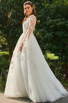 Vestido de novia sexy Satén Espalda Descubierta Natural Playa Otoño