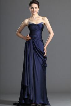 Vestido de madrina Manzana Abalorio Blusa plisada Marina Espalda medio descubierto