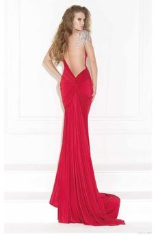 Vestido de noche Elegante Falta Corte Sirena Hasta el suelo Pura espalda