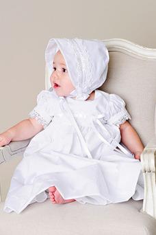 Vestido de Bautizo primavera Joya Imperio Cintura Recatada Satén Arco Acentuado