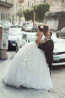 Vestido de novia Otoño Formal tul Cordón Corte princesa Natural