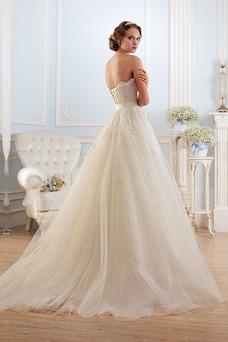 Vestido de novia Sin tirantes Cordón Formal Cristal Cola Capilla Corte-A