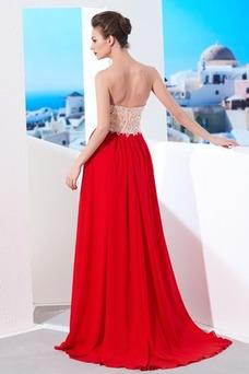 Vestido de noche Espalda Descubierta Espectaculares Falta Verano Escote Corazón