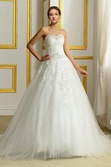 Vestido de novia Espalda Descubierta Invierno Sin mangas largo Corpiño Acentuado con Perla