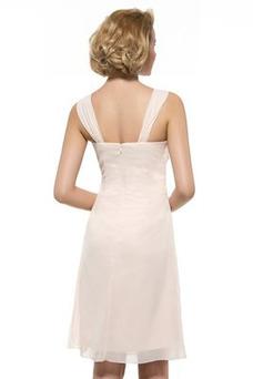 Vestido de madrina Dobladillos Manga de longitud 3/4 Cremallera Gasa Blusa plisada