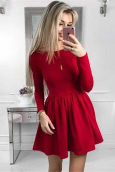 Vestido de cóctel Satén Corte-A Corto Falta Alto cubierto primavera
