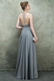 Vestido de fiesta Espectaculares Corte-A Natural Corpiño Acentuado con Perla