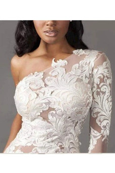 Vestido de novia sexy Fuera de casa Asimétrico Estilo Encaje Encaje