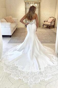 Vestido de novia vendimia Sin mangas Espalda Descubierta Natural Pera