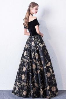 Vestido de fiesta Elegante Bordado Hasta el Tobillo Cordón Natural Pera