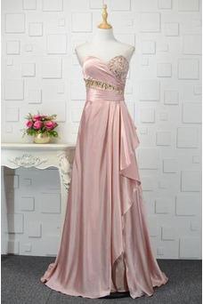 Vestido de noche Elegante Sin mangas primavera Corte-A Escote Corazón