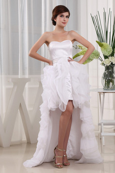 Vestido de novia Informal Asimètrico Natural Espalda Descubierta Falta