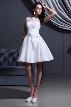 Vestido de novia Capa de Corpiño Cremallera Botón Falta Fuera de casa