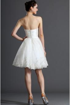 Vestido de novia Verano Sin mangas Natural Delgado Capa de tul Blusa plisada