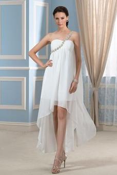 Vestido de novia Sin mangas Verano Espalda Descubierta Imperio Cintura