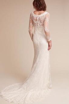 Vestido de novia primavera Fuera de casa Capa de encaje Apliques largo