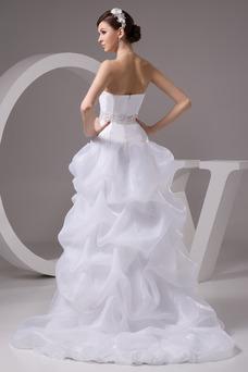 Vestido de novia Playa Falta Cintura Baja Asimètrico Espalda Descubierta