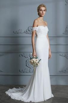Vestido de novia Encaje primavera Natural Escote con Hombros caídos